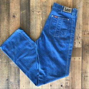 Vintage Lee 🌈'70s High-Waisted Straight Leg Jeans